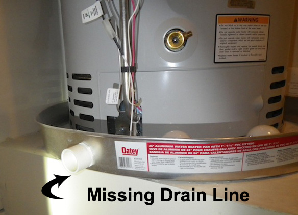 Scottsdale Home Inspection Findings Water Heater Drain